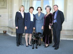 Lindy and Harper after being awarded the OAM from NSW Governor Dame Marie Bashir
