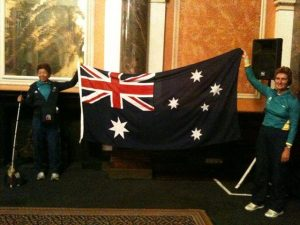Lindy and Maureen selected as flag bearers for the opening ceremony