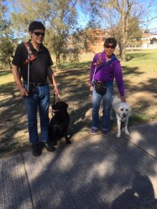 Scott with Dudley and Lindy with Comet