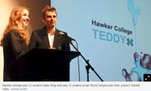 Keynote speaker at TeddyX talks at Hawker College